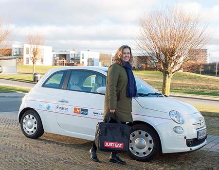 Just Eat delivers food with green conscience in fuel cell car