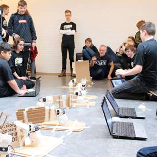 Robotterne kommer til Winter Science Camp